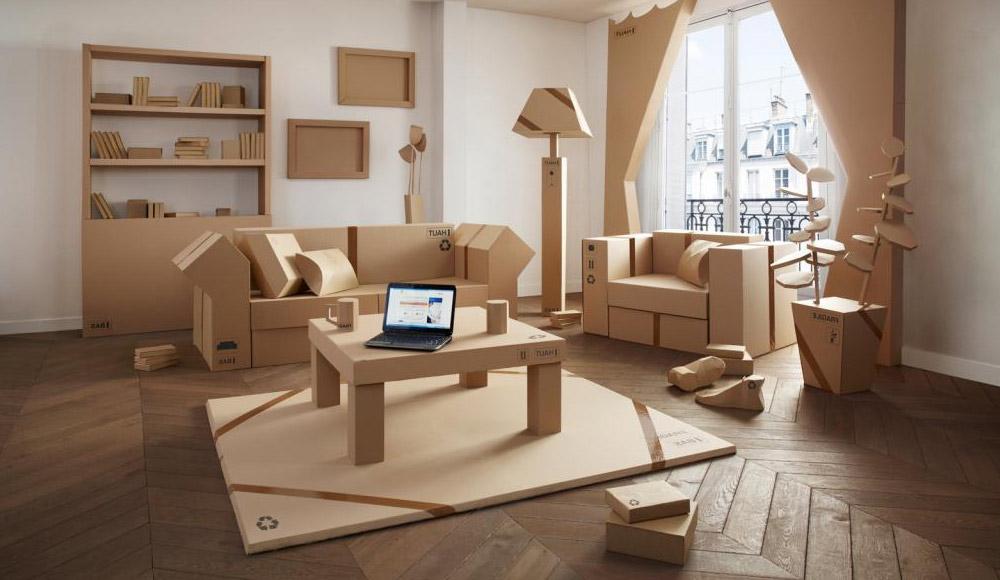 Les meubles en carton : éco-durables mais aussi beaux